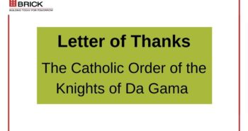 Thank you letter Knights of Da Gama