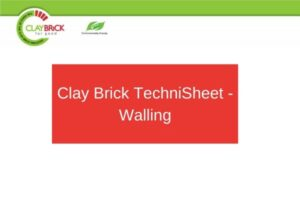 Clay Brick TechniSheet - Walling